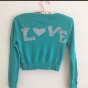 Betseys Johnson cropped love cardigan